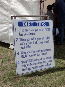"A sign of ""Diet Tips"""